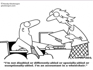 Disbility cartoon